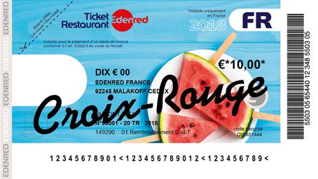 Don chèque Ticket Restaurant - Croix-Rouge