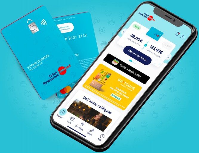 Ticket-restaurant-application-carte