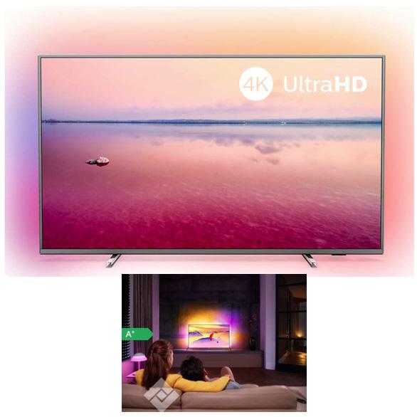 TELEVISEUR ULTRA HD 4K AMBILIGHT 139 CM